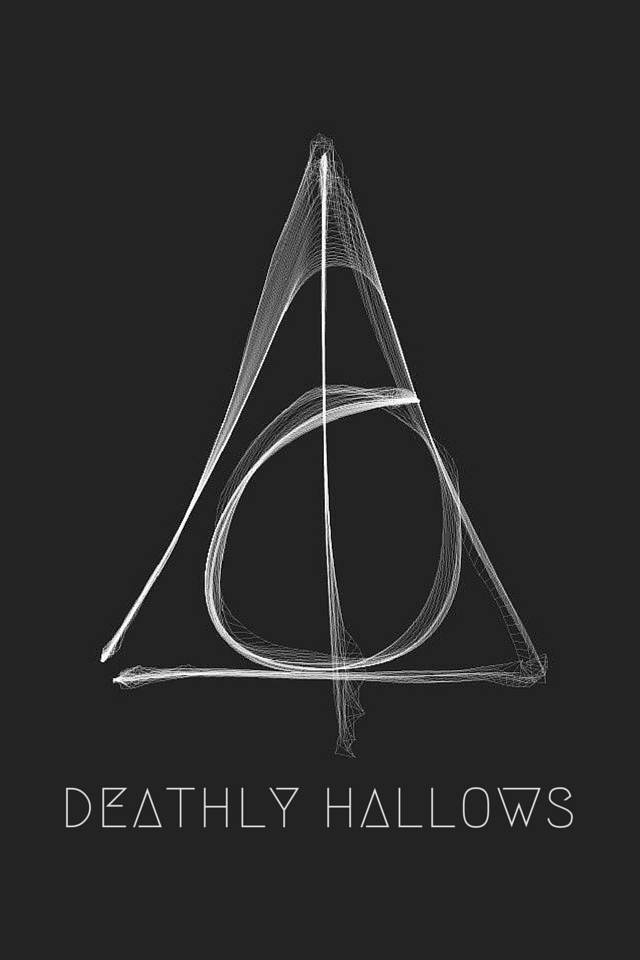 Tap And Get The Free App Art Creative Black Deathly Hallows