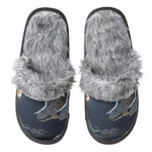 Wolves Pair Of Fuzzy Slippers