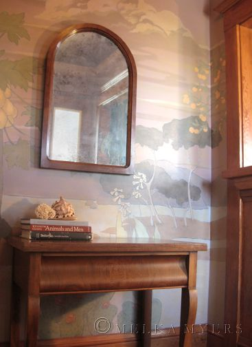 Arts and Crafts style mural, Mission style, painting, entryway mural ...