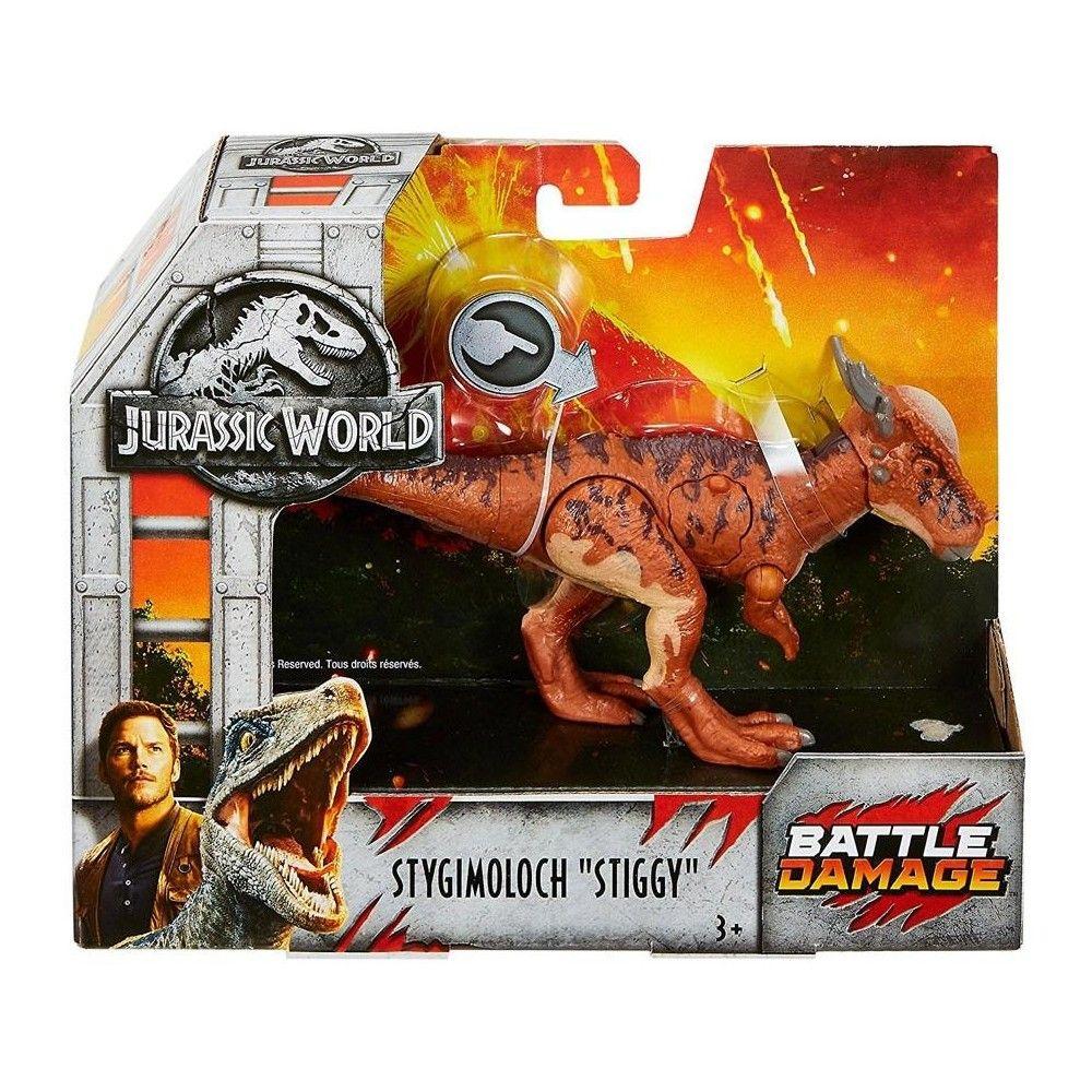HOT Jurassic World Fallen Kingdom Battle Damage Action Attack Carnotaurus Figure