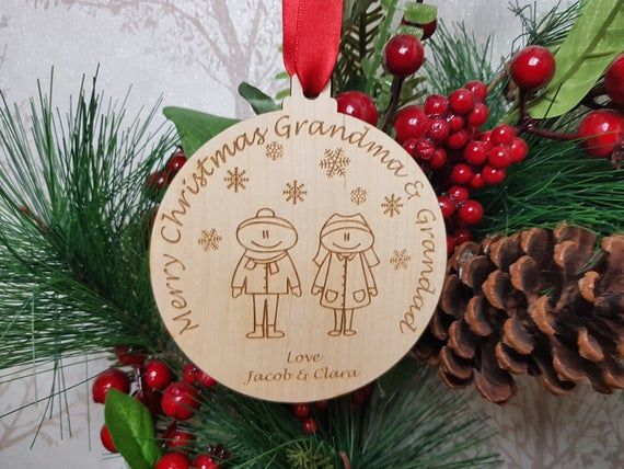 Christmas Gift for Grandparents, Stocking Filler Personalised Tree Decoration, Uncle and Auntie Xmas #bestgiftsforgrandparents