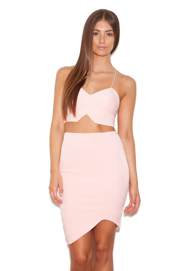 506aab0faa6 Celeb Boutique 'Marisol' Blush Pink Stretch Crepe Two Piece HOUSE OF CB SS  1756