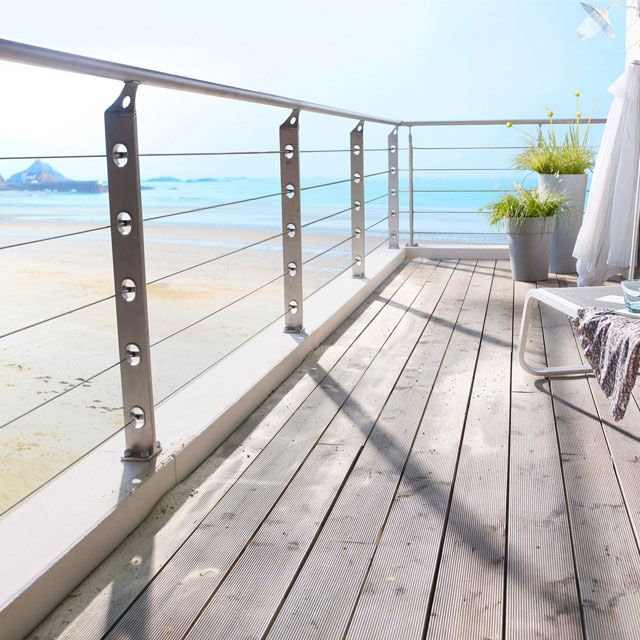 Balustrade Inox I One Remplissage Cables Castorama Balustrade Inox Terrasse Surelevee Balustrades