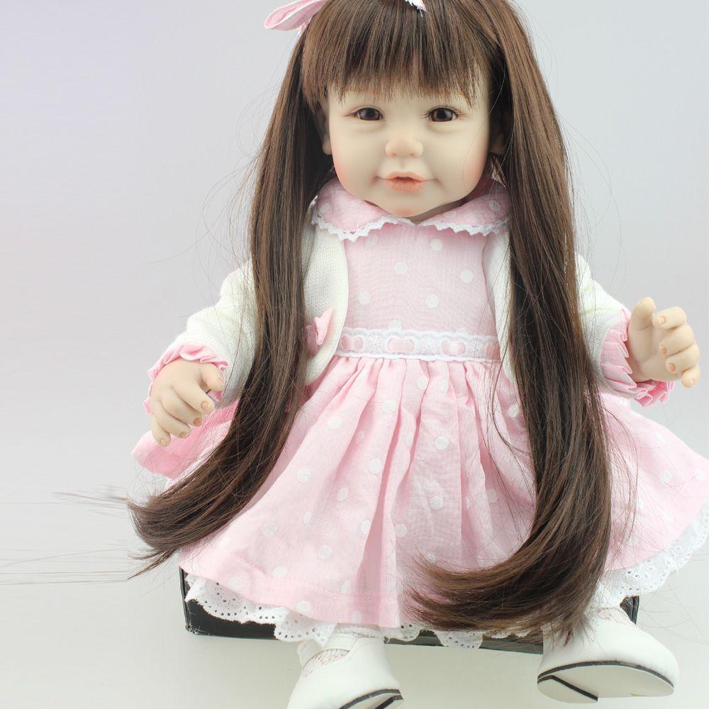 18 \'\'45 cm süße Mädchen Puppe wiedergeboren Babypuppen volle ...