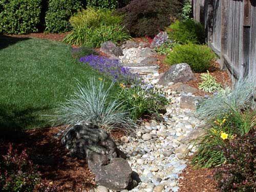 Dry creek design idea outdoors Pinterest Cascadas, Huerto y - Cascadas En Jardines