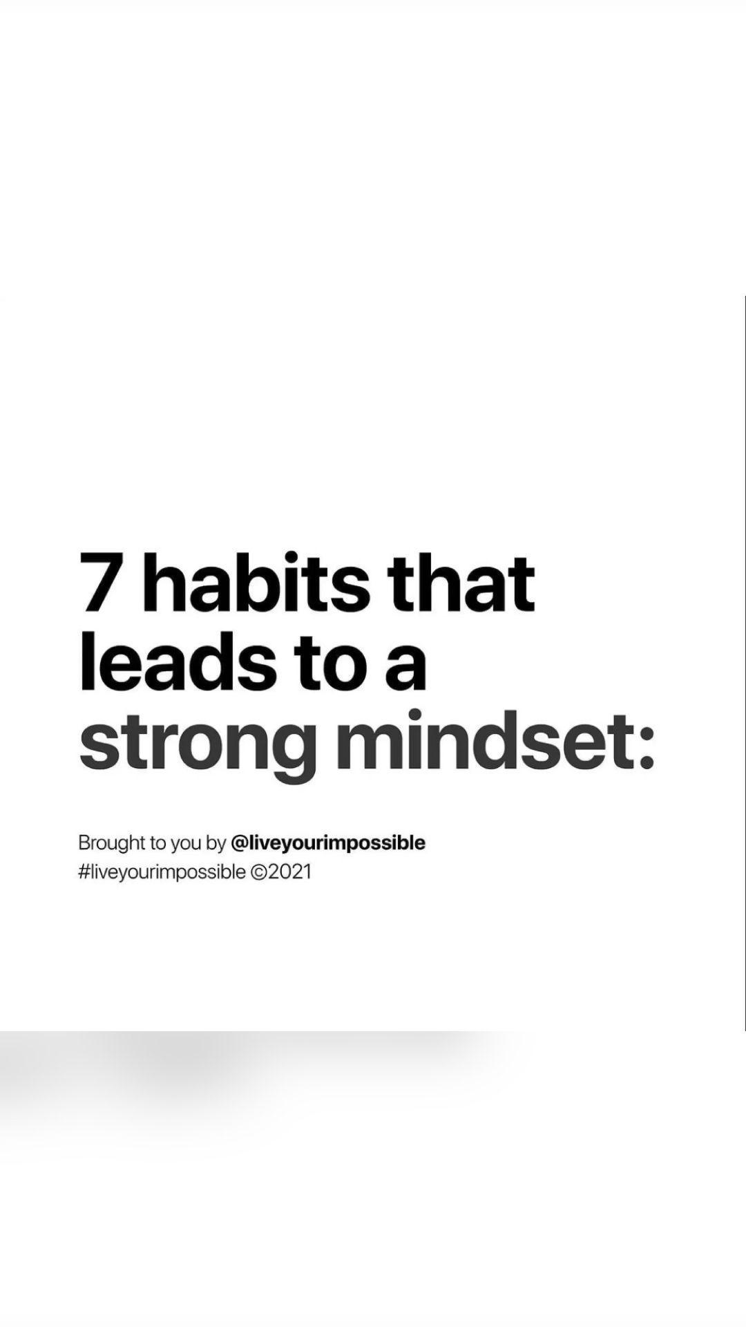 Strong mindset