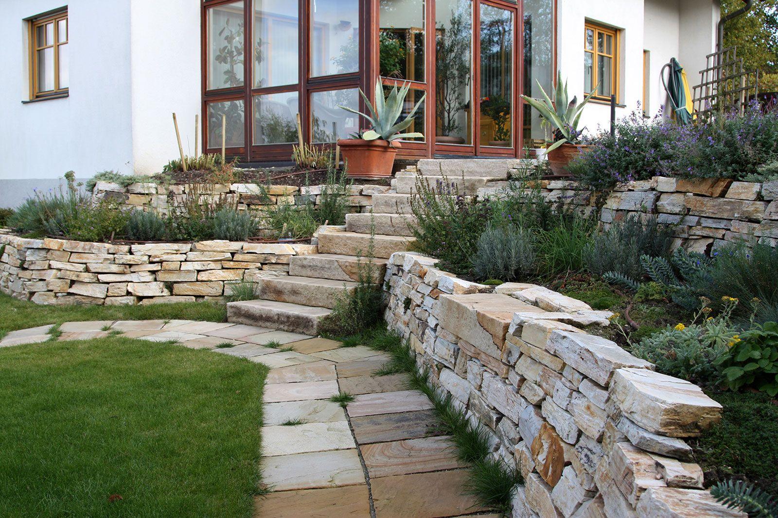 Natursteinmauer unsere Projekte Pinterest