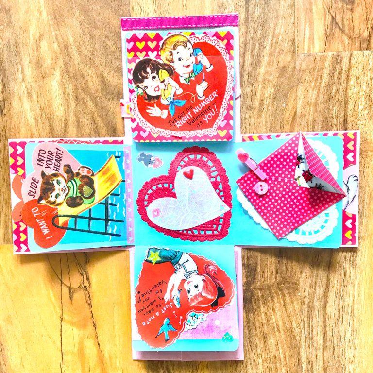 diy retro valentine exploding candy box  retro