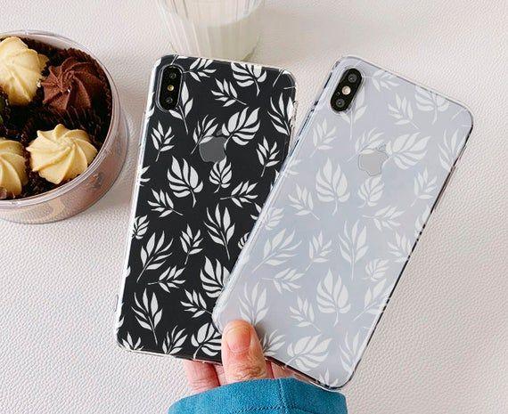 White Leaves Samsung Galaxy Note 10 S10 plus case S9 plus case S9 Note 9 case Galaxy A8 A7 A9 2018 Note 8 S8 plus Samsung A50 a70 a30 a40 25