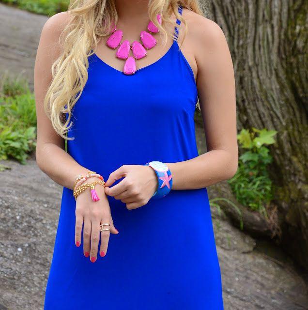Pink and Cobalt Blue