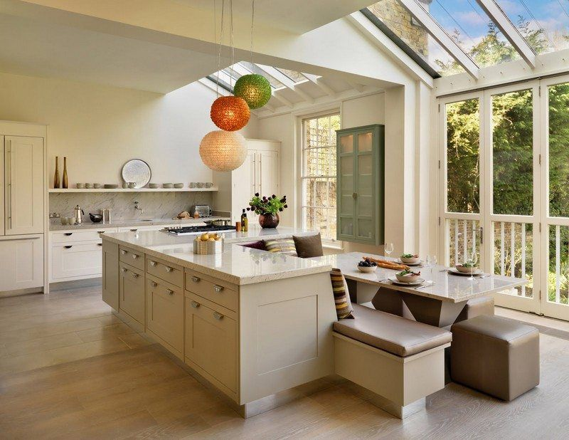 Kitchen island with built-in seating inspiration Home-Kitchen