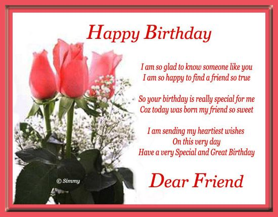 Happy Birthday Wishes For Friend | Wish Your Close Friends/ Buddies With  This Warm Birthday Message.
