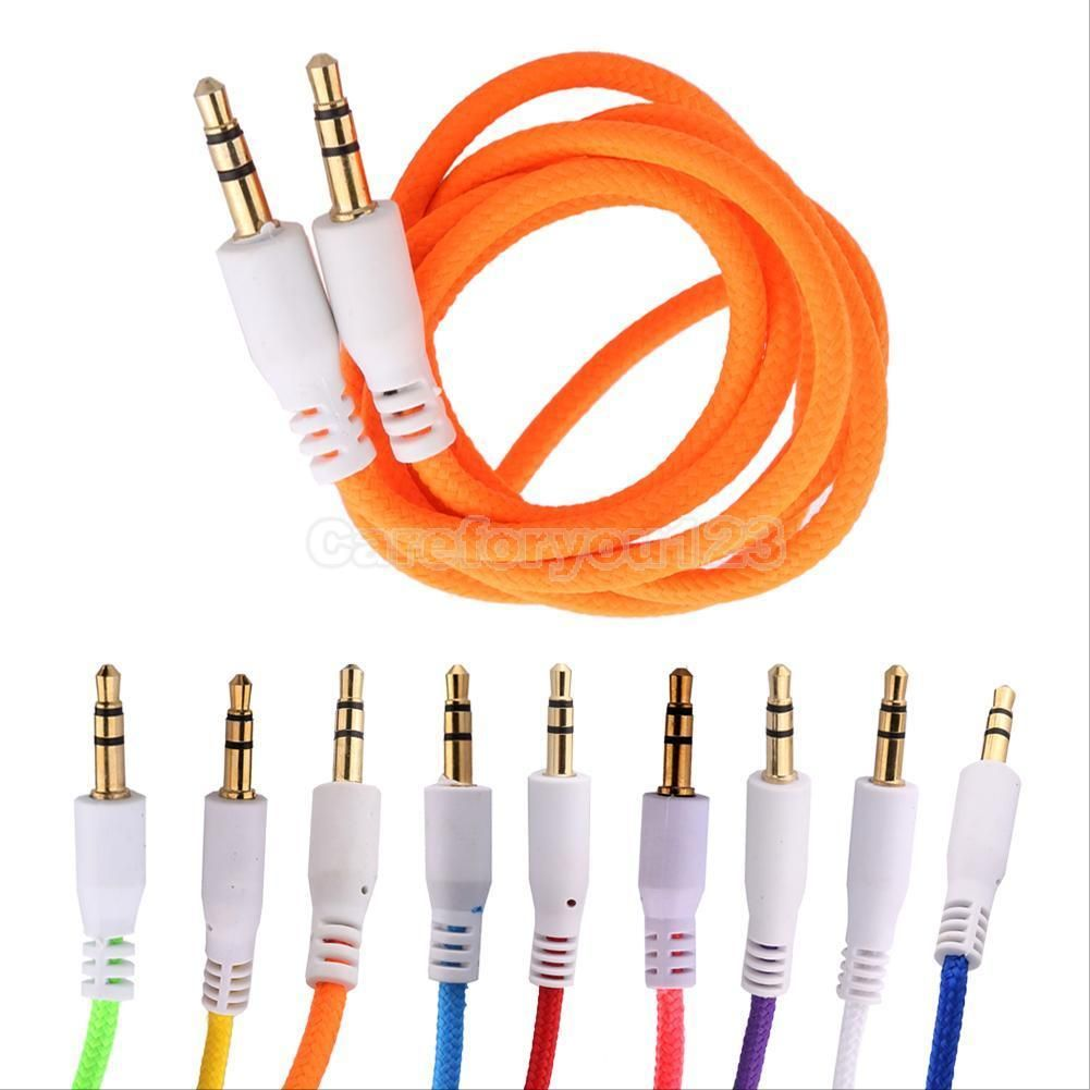 2X Gold 3.5mm Male to Male Car Aux Auxiliary Cord Stereo Audio Cable Headphone