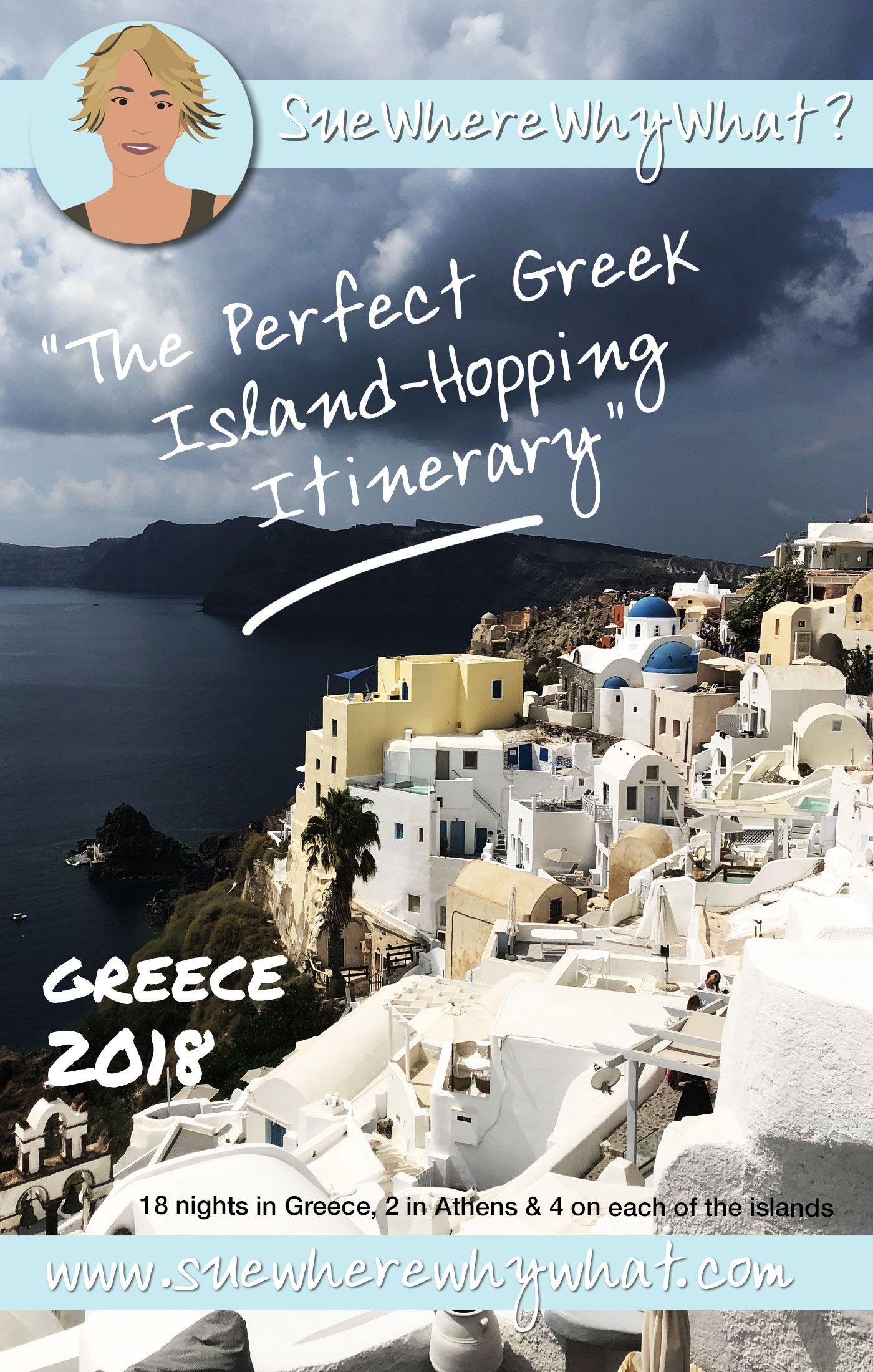 The Perfect Greek Island-Hopping Itinerary #greekislands