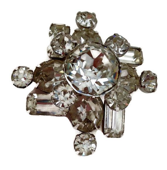 Vintage+Kramer+Rhinestone+Brooch+by+RosemarysReflections+on+Etsy