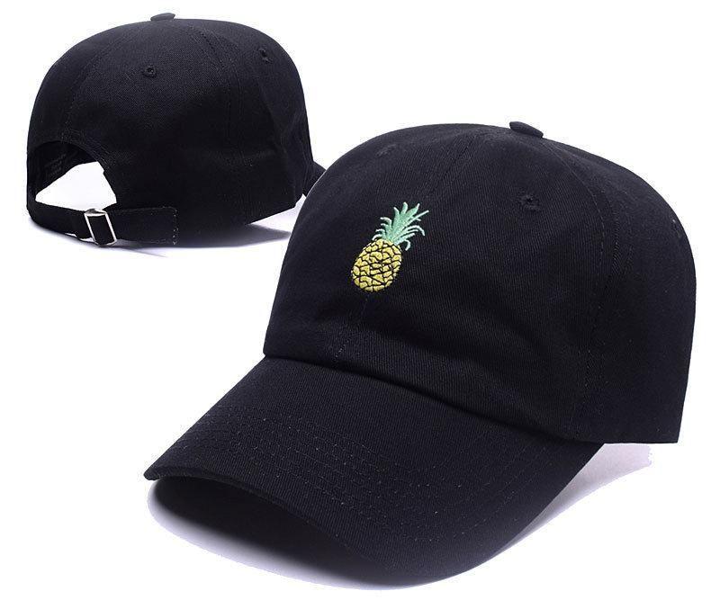 Men's / Women's Pineapple OG Embroidery Curved Dad Hat - Black