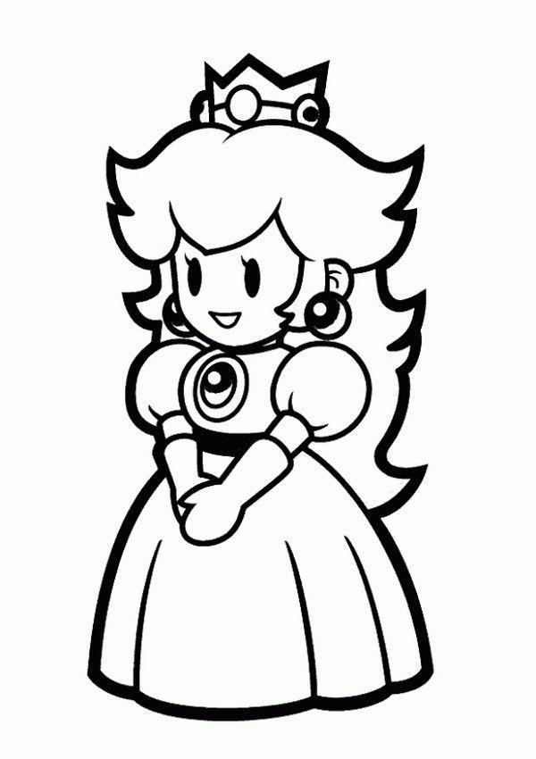 princess peach coloring pages to print  peach mario