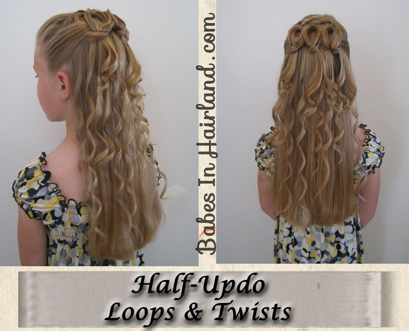 Elegant Half Updo - Loops & Twists