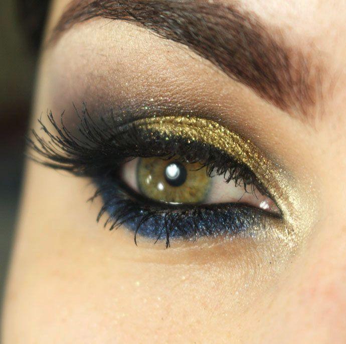 Tutorial – maquiagem para pele morena com dourado e azul