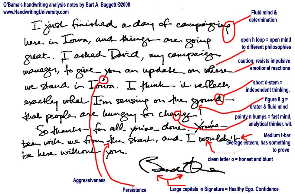 Barak Obama S Handwriting Compared To John F Kennedy S