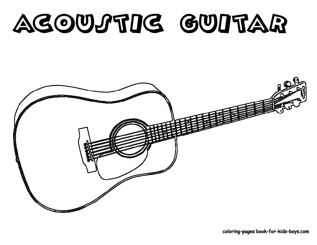 Coloring Page Guitar Guitar Kids Guitar Lessons For Kids