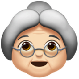 The Old Woman Light Skin Tone Emoji On Iemoji Com Light Medium Skin Tone Pale Skin Tone Old Man Emoji