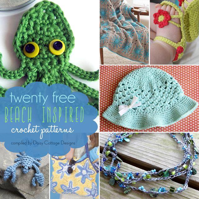 20 Free Beach Inspired Crochet Patterns   manualidades   Pinterest ...