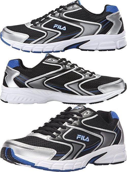 Fila Men's Xtent 3 Black/Metallic Silver/Prince Blue Sneaker 10 D (M)