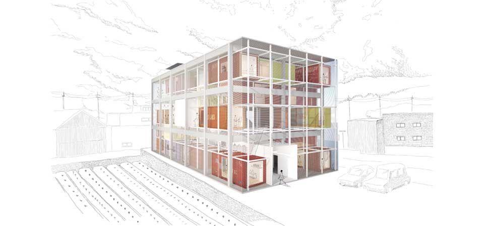 愛知県名古屋市 米澤隆建築設計事務所 上鳥羽の倉庫 建築設計事務所 設計事務所 建築