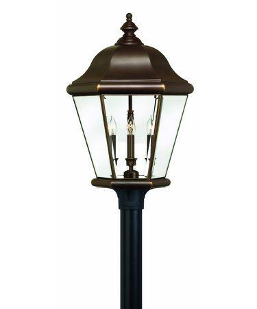 Hinkley lighting clifton park copper bronze post light in copper bronze offer stores