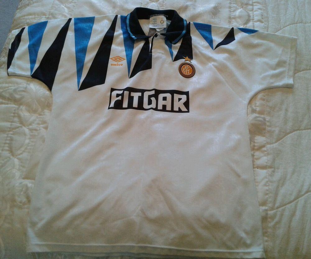 online retailer aad5e f33d9 Retro INTER MILAN 91/92 Away Football Shirt (L) Soccer ...