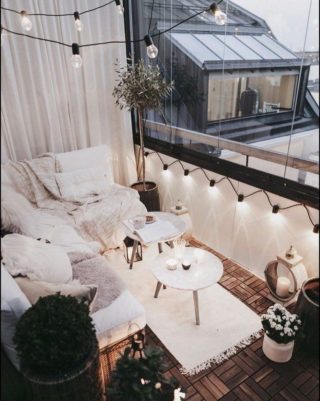 Photo of 31 idées pour un balcon ou terrasse cocooning pour l'hiver