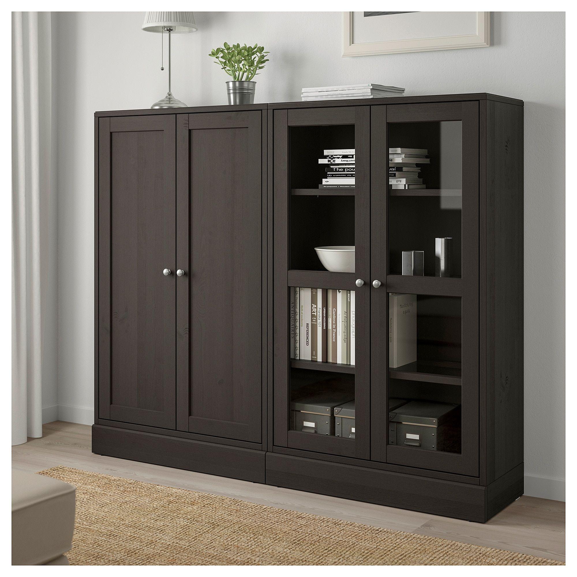 IKEA HAVSTA Storage combination w/glass doors dark brown