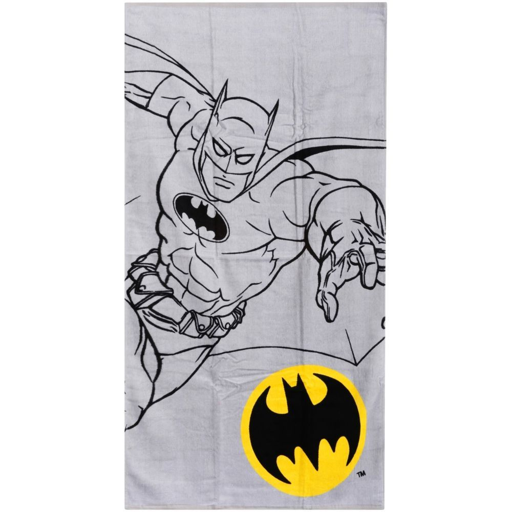 Batman Bath Towel Bathroom Gift Superhero Kids Child Children Cotton ...