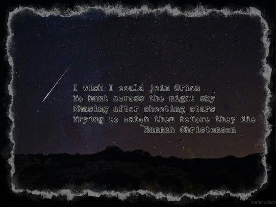 Shooting Stars #poetry #HannahChristensen #poems   Poems by Hannah ...