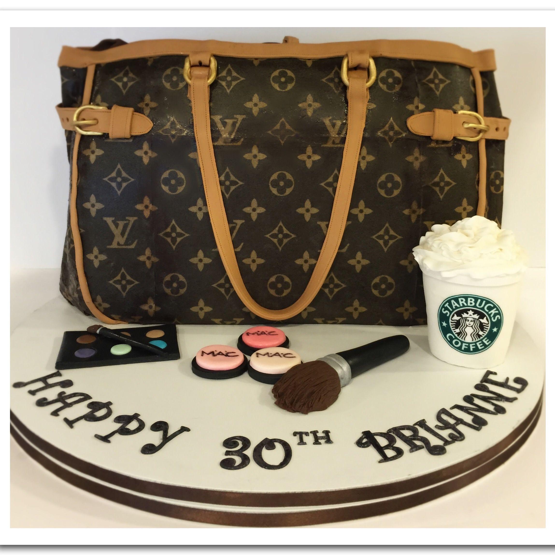 Fantastic Louis Vuitton Handbag 30Th Birthday Cake Louis Vuitton Birthday Personalised Birthday Cards Veneteletsinfo