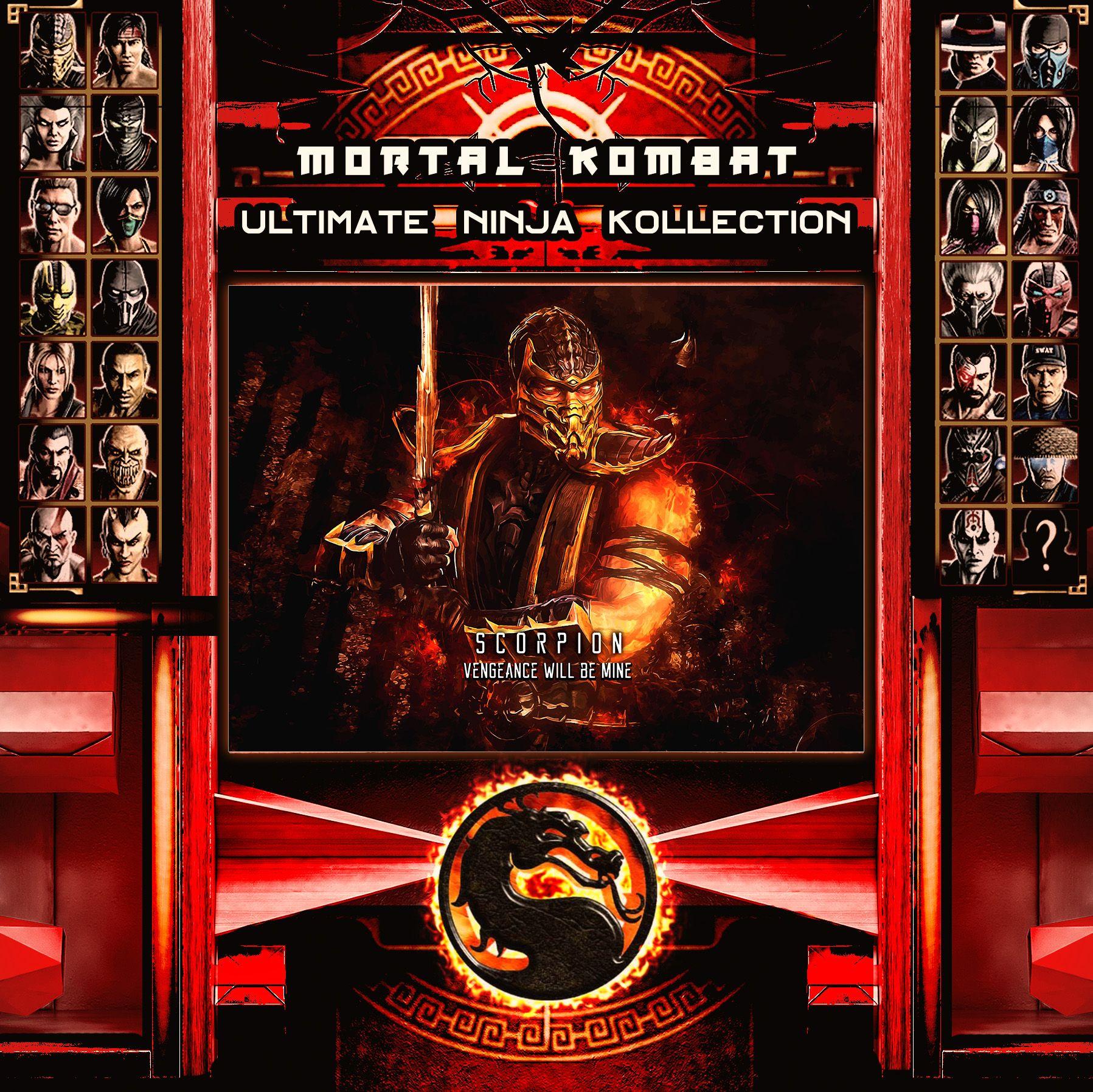 Mortal Kombat Ultimate Ninja Collection Scorpion Metal Print | Displate thumbnail
