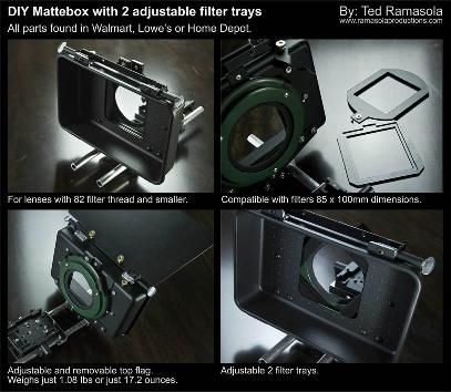 DIY mattebox with adjustable filter trays | Photography ...