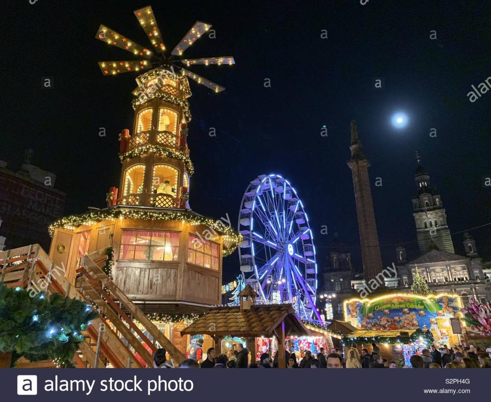 Glasgow Christmas market Stock Photo 311512336 Alamy in