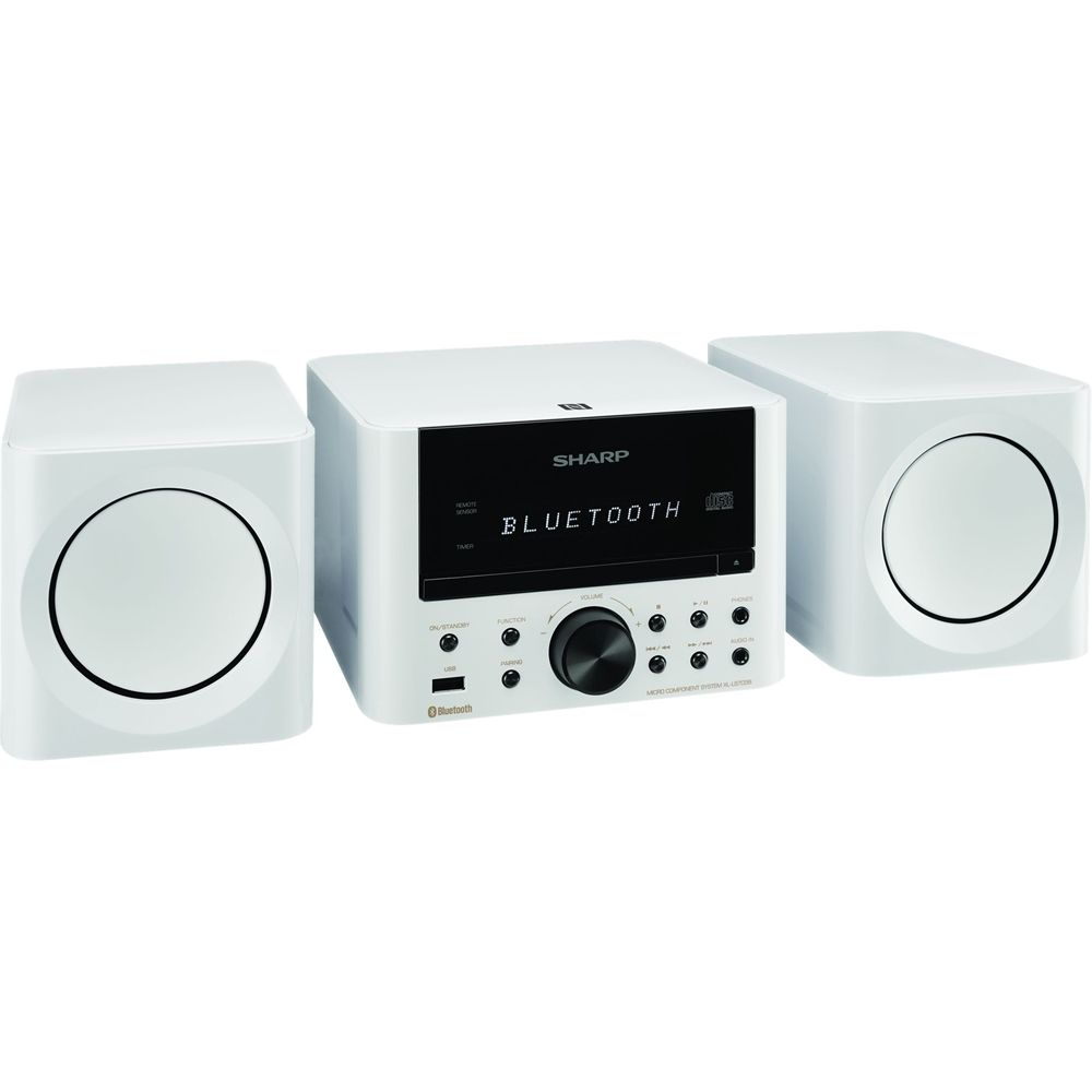 Sharp - 50W Micro System - White