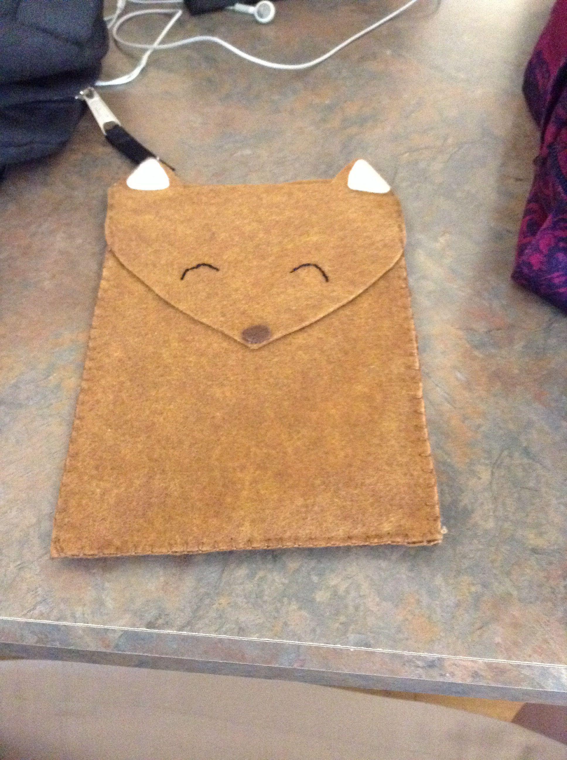 Felt iPad mini case. Cute fox!