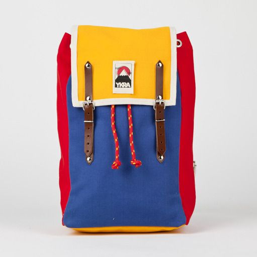 YKRA MATRA MINI BACKPACK YELLOW BLUE RED  with cotton strap,
