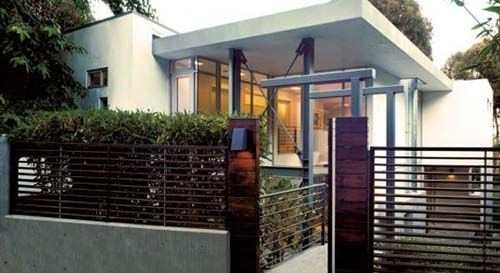 Flat Roof design and minimalist fence in simple home Ideas a new
