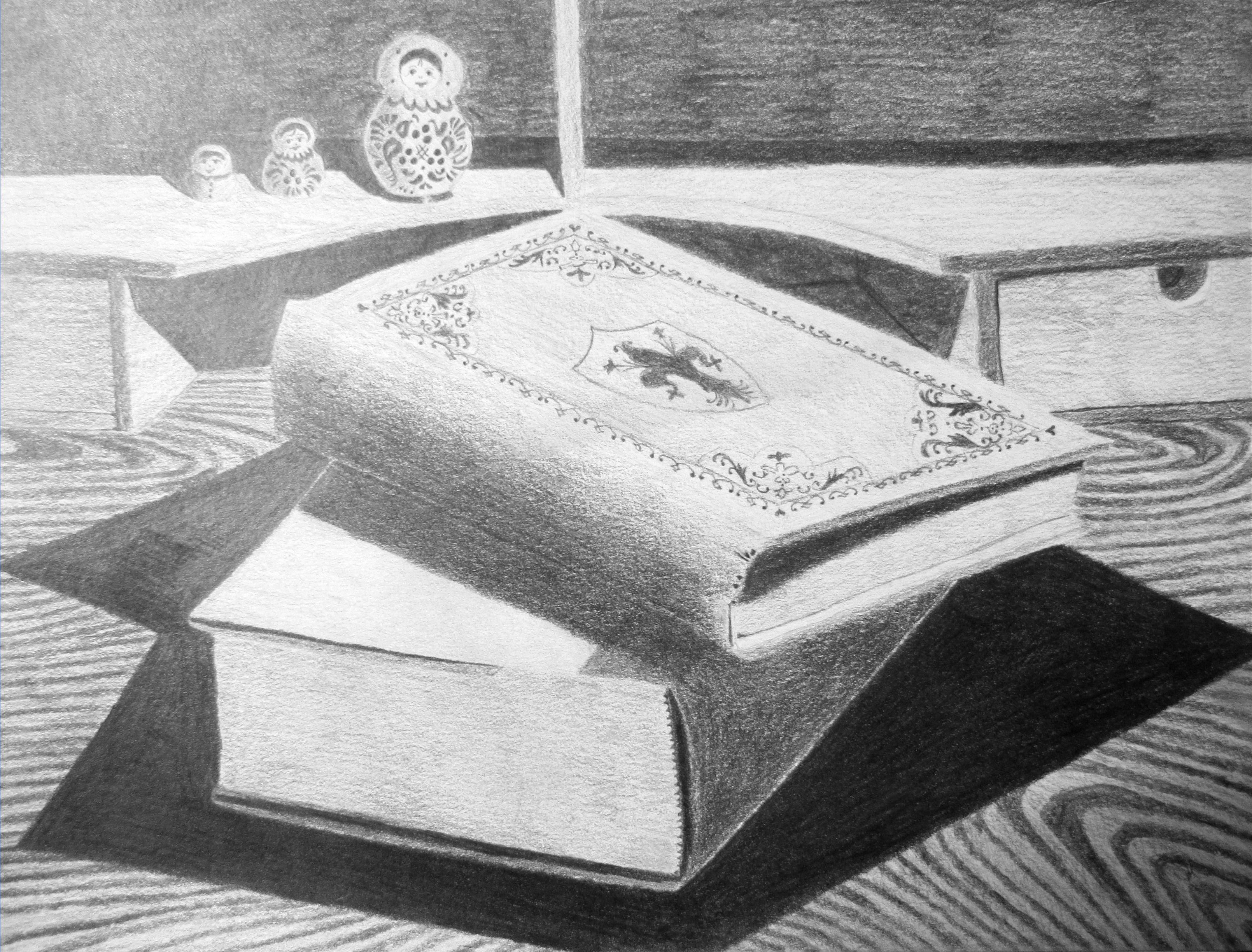 Stack of Books | Pencil drawings, Album art design