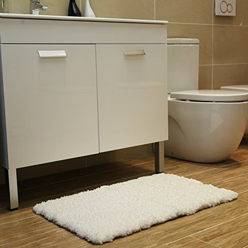 K Mat 50x80cm White Bath Soft Shaggy Bathroom Rugs No Https
