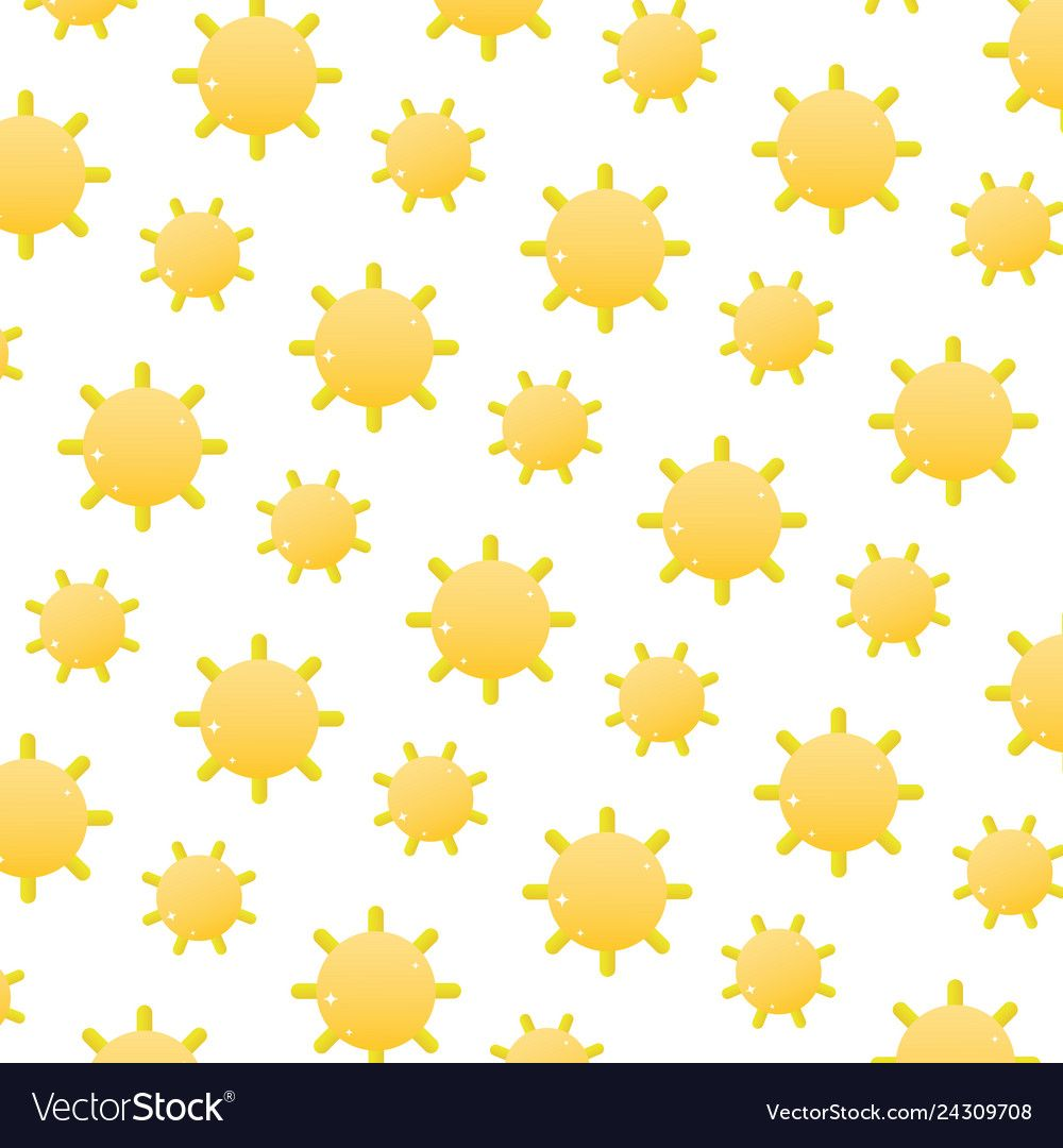 Sun with shine ray weather background Royalty Free Vector ,