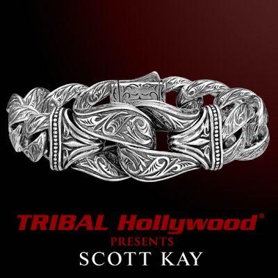 sparta guardian large sterling silver bracelet by scott kay bracelets for men mens sterling silver necklace silver bracelet pinterest