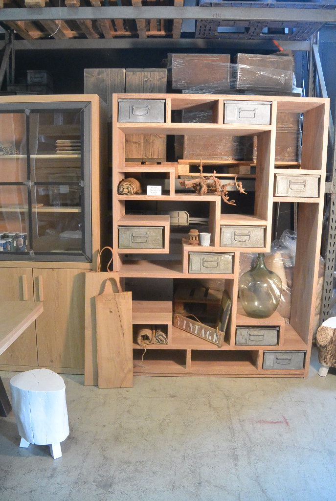 Industriele Eikenhout Kast Met Echt Oude Philips