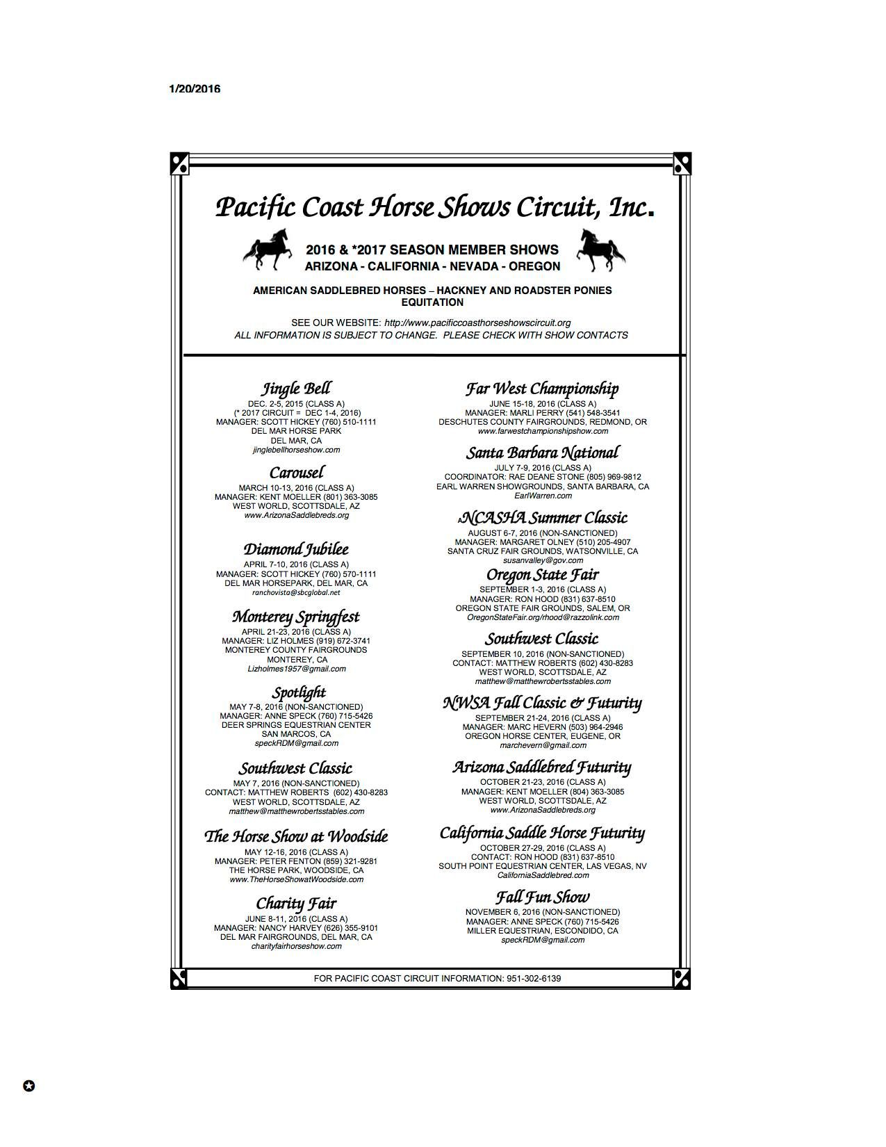 Show Circuit April Issue Tintucmoi The Theshowcircuit Twitter Pacific Coast Horse 2017 Horses Schedule