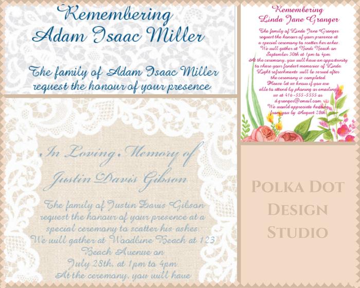 39 Best Funeral Reception Invitations   Reception invitations